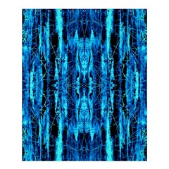 Bright Blue Turquoise  Black Pattern Shower Curtain 60  X 72  (medium)