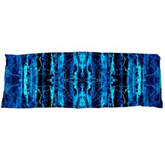Bright Blue Turquoise  Black Pattern Body Pillow Case (dakimakura) by Costasonlineshop