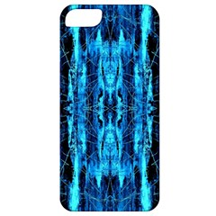 Bright Blue Turquoise  Black Pattern Apple Iphone 5 Classic Hardshell Case