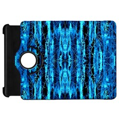 Bright Blue Turquoise  Black Pattern Kindle Fire Hd 7