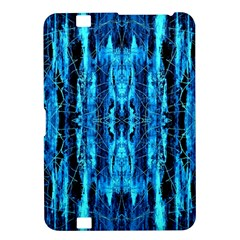 Bright Blue Turquoise  Black Pattern Kindle Fire Hd 8 9