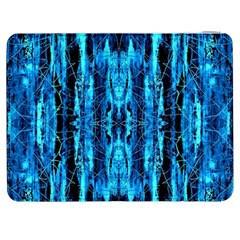 Bright Blue Turquoise  Black Pattern Samsung Galaxy Tab 7  P1000 Flip Case