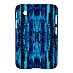 Bright Blue Turquoise  Black Pattern Samsung Galaxy Tab 2 (7 ) P3100 Hardshell Case  by Costasonlineshop