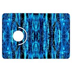 Bright Blue Turquoise  Black Pattern Kindle Fire Hdx Flip 360 Case
