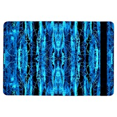 Bright Blue Turquoise  Black Pattern Ipad Air Flip by Costasonlineshop