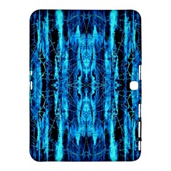 Bright Blue Turquoise  Black Pattern Samsung Galaxy Tab 4 (10 1 ) Hardshell Case