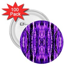 Bright Purple Rose Black Pattern 2 25  Buttons (100 Pack)  by Costasonlineshop