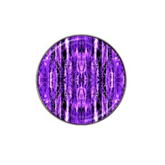 Bright Purple Rose Black Pattern Hat Clip Ball Marker (10 Pack)