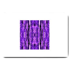 Bright Purple Rose Black Pattern Large Doormat