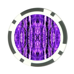 Bright Purple Rose Black Pattern Poker Chip Card Guards