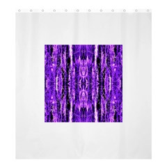 Bright Purple Rose Black Pattern Shower Curtain 66  X 72  (large)  by Costasonlineshop