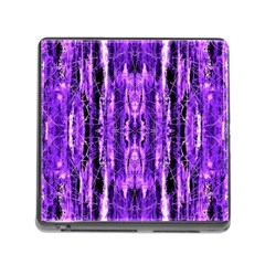 Bright Purple Rose Black Pattern Memory Card Reader (square) by Costasonlineshop