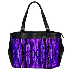 Bright Purple Rose Black Pattern Office Handbags