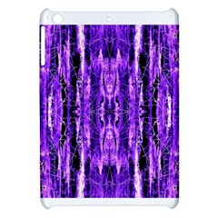 Bright Purple Rose Black Pattern Apple Ipad Mini Hardshell Case by Costasonlineshop