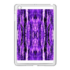 Bright Purple Rose Black Pattern Apple Ipad Mini Case (white) by Costasonlineshop