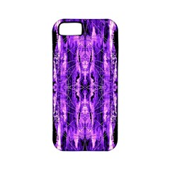 Bright Purple Rose Black Pattern Apple Iphone 5 Classic Hardshell Case (pc+silicone)