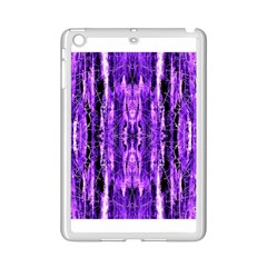 Bright Purple Rose Black Pattern Ipad Mini 2 Enamel Coated Cases by Costasonlineshop