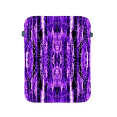 Bright Purple Rose Black Pattern Apple Ipad 2/3/4 Protective Soft Cases by Costasonlineshop