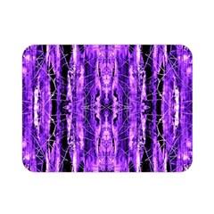 Bright Purple Rose Black Pattern Double Sided Flano Blanket (mini)