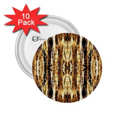 Beige Brown Back Wood Design 2 25  Buttons (10 Pack)  by Costasonlineshop