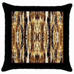 Beige Brown Back Wood Design Throw Pillow Case (black) by Costasonlineshop