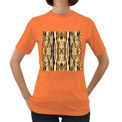 Beige Brown Back Wood Design Women s Dark T Shirt by Costasonlineshop