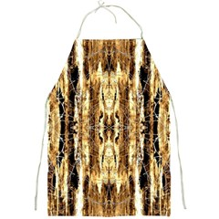 Beige Brown Back Wood Design Full Print Aprons by Costasonlineshop
