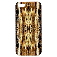 Beige Brown Back Wood Design Apple Iphone 5 Hardshell Case by Costasonlineshop