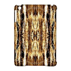 Beige Brown Back Wood Design Apple Ipad Mini Hardshell Case (compatible With Smart Cover)