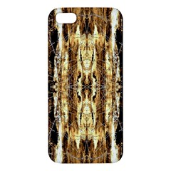 Beige Brown Back Wood Design Apple Iphone 5 Premium Hardshell Case