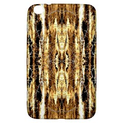 Beige Brown Back Wood Design Samsung Galaxy Tab 3 (8 ) T3100 Hardshell Case