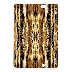 Beige Brown Back Wood Design Kindle Fire HDX 8.9  Hardshell Case by Costasonlineshop