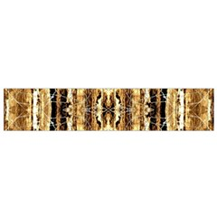 Beige Brown Back Wood Design Flano Scarf (small)
