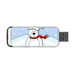 Polar Bear Portable Usb Flash (one Side) by Valentinaart