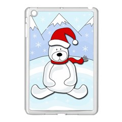 Polar Bear Apple Ipad Mini Case (white) by Valentinaart