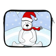 Polar Bear Apple Ipad 2/3/4 Zipper Cases by Valentinaart