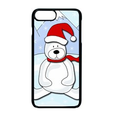 Polar bear Apple iPhone 7 Plus Seamless Case (Black) by Valentinaart