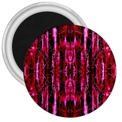 Pink Burgundy Traditional Pattern 3  Magnets by Costasonlineshop