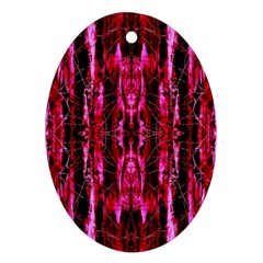 Pink Burgundy Traditional Pattern Ornament (oval)  by Costasonlineshop