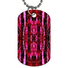 Pink Burgundy Traditional Pattern Dog Tag (one Side) by Costasonlineshop