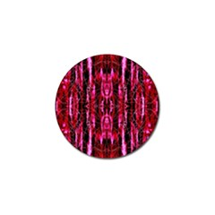 Pink Burgundy Traditional Pattern Golf Ball Marker (10 Pack) by Costasonlineshop