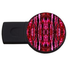 Pink Burgundy Traditional Pattern Usb Flash Drive Round (2 Gb)  by Costasonlineshop