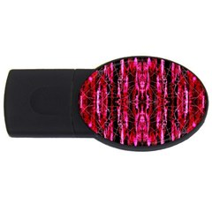 Pink Burgundy Traditional Pattern USB Flash Drive Oval (2 GB)  by Costasonlineshop