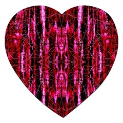 Pink Burgundy Traditional Pattern Jigsaw Puzzle (heart) by Costasonlineshop