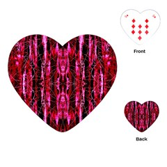 Pink Burgundy Traditional Pattern Playing Cards (heart)  by Costasonlineshop