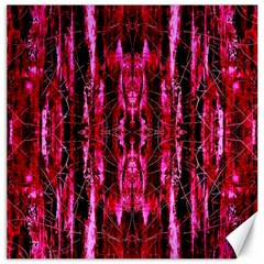 Pink Burgundy Traditional Pattern Canvas 16  X 16   by Costasonlineshop