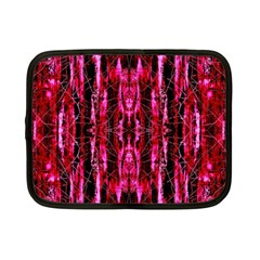 Pink Burgundy Traditional Pattern Netbook Case (small)  by Costasonlineshop