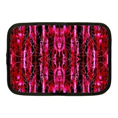 Pink Burgundy Traditional Pattern Netbook Case (medium)