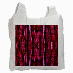 Pink Burgundy Traditional Pattern Recycle Bag (two Side)