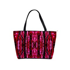 Pink Burgundy Traditional Pattern Shoulder Handbags by Costasonlineshop